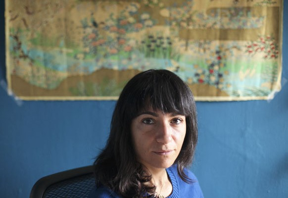 Author Laleh Khadivi at her home in San Francisco, CA.  Photo by Ariel Zambelich